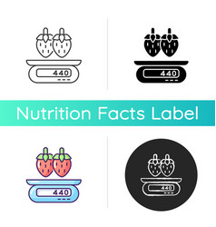 serving information icon vector image