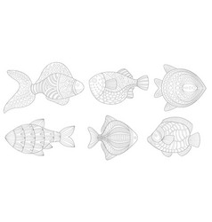 set fish in form antistress sausages vector image