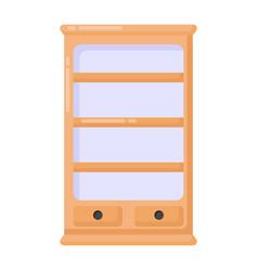 Showcase cupboard vector