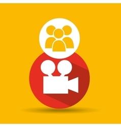 Social media group film design vector