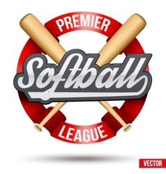 Softball circle symbol vector image