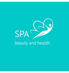 Spa logo Woman Butterfly vector image