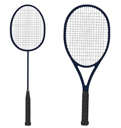 Tennis and badminton racket vector image