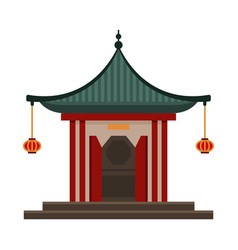 Traditional chinese building pagoda ancient vector