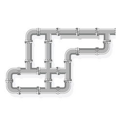 Tube lines for plumbing and piping work pipe line vector