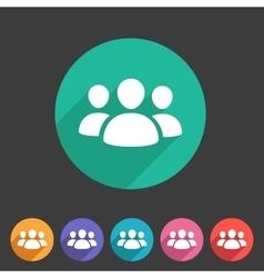 Users group social icon flat web sign symbol logo vector