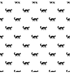 walking cat pattern seamless vector image