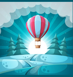 winter landscape merry christmas new year vector image