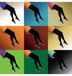 Woman legs vector image vector image