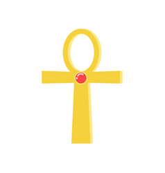 ankh cross religious sign of the ancient egyptian vector image