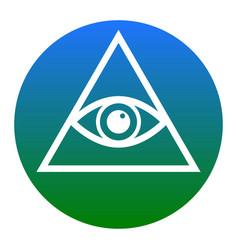 all seeing eye pyramid symbol freemason and vector image