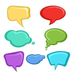 Cartoon speech bubbles set vector image