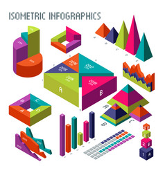 isometric 3d diagrams and graphs for your vector image