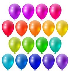 Set a festive bright balloons vector image