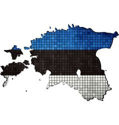 Estonia map with flag inside vector image vector image