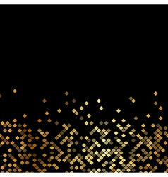 luxury black background with gold sparklers vector image vector image