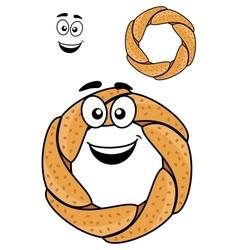 Round pretzel vector image