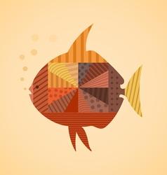 Abstract fish3 vector image vector image