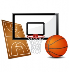 basketball design elements vector image vector image