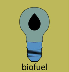 Biofuel icon flat design vector image
