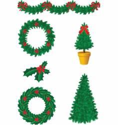 Christmas decor vector image vector image