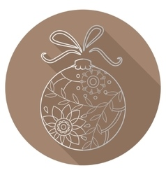 Flat icon of christmas toy vector image