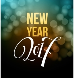 New Year fireworks and confetti 2017 vector image vector image