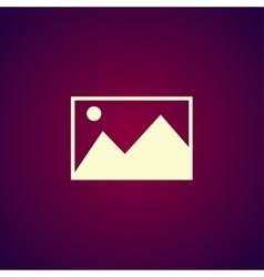 Photo picture web icon in flat style vector image