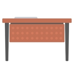 Wooden writing desk vector image vector image