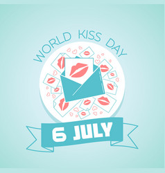 6 july international kissing day vector image