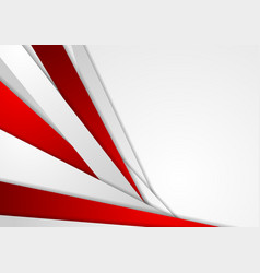 Abstract corporate red grey tech background vector image