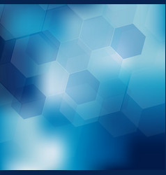 Abstract digital hexagon on blue background vector