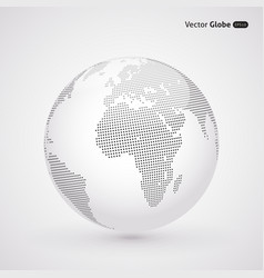 abstract dotted globe Central views of Africa vector image