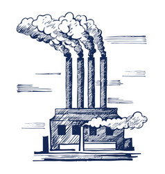 air ecology and problem vector image