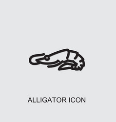 Alligator icon vector