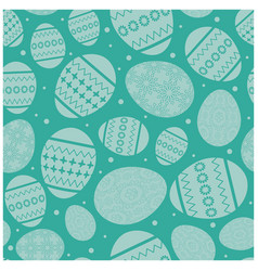 aquamarine easter seamless pattern with eggs vector image