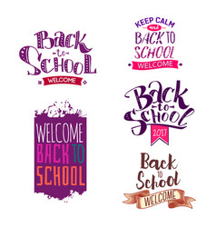 back to school label set vector image