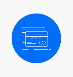 banking card credit debit finance white line icon vector image
