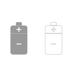 Battery grey set icon vector