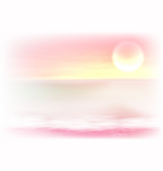 beautiful purple sea sunset vector image