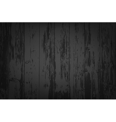 Black wooden textured background vector image