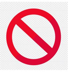blank ban symbol icon vector image