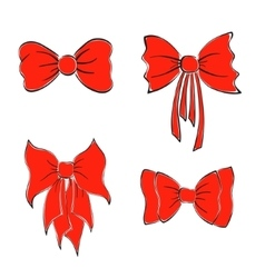 Bright Red Bows vector image