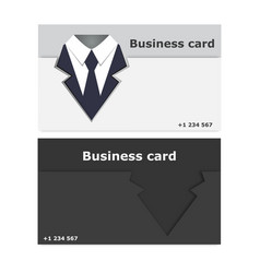 business cards stylish vector image