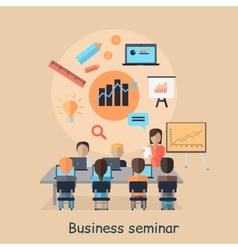 Business seminar succefull motivational management vector