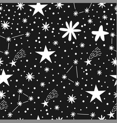 childish seamless pattern with stars nursery baby vector image