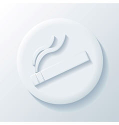 Cigarette 3D Paper Icon vector
