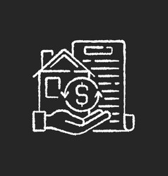 Collateral chalk white icon on black background vector