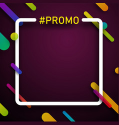 colorful square promo background vector image