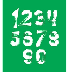 Creative handwritten over color numbers set from 0 vector image